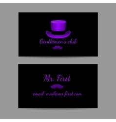 Business horizontal card is great men vector