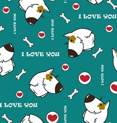 Cartoon dog pattern vector