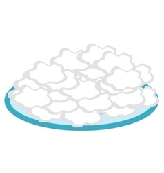 Cottage cheese in a plate flat style icon vector image vector image