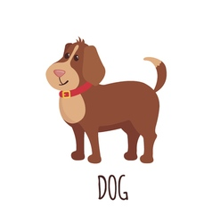 Cute dog in flat style vector image vector image