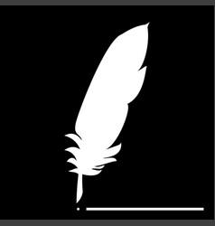 feather the white color icon vector image
