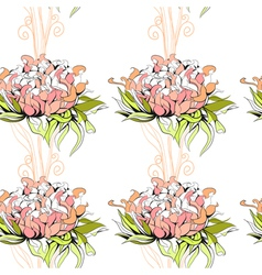floral seamless pattern with paeony flowers vector image vector image