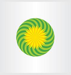 Flower background design floral icon vector