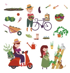 Gardening clip art vector