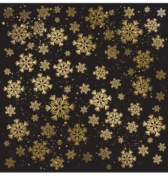 Gold winter abstract background vector image