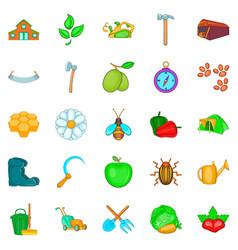 Kin icons set cartoon style vector