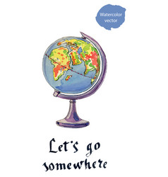 lets go somewhere vector image vector image