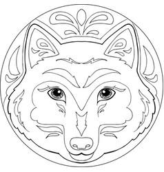 Mandala wolf vector