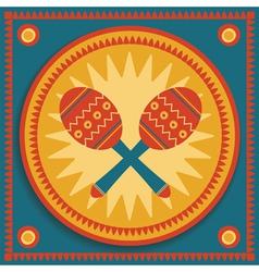maraca vector image vector image