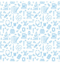 medical seamless pattern clinic vector image vector image