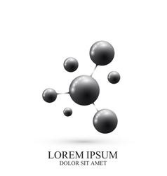 Modern Logotype icon dna and molecule vector image