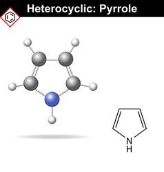 Pyrrole five-membered organic heterocycle vector