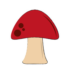 red fungus symbol vector image