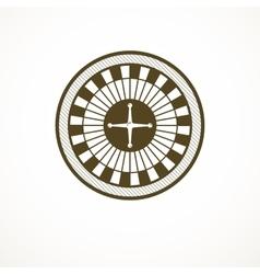 Roulette wheel logo casino vector image