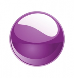 shiny sphere 02 purple vector image