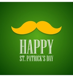 St Patrick Day greeting card vector image vector image