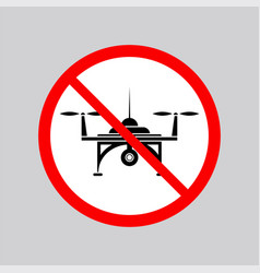stop air drone allowed sign vector image vector image