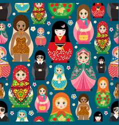 traditional russian doll matryoshka toy nesting vector image