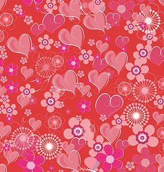 Valentines seamless background vector image