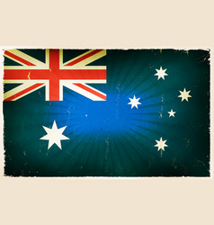 Vintage australia flag poster background vector