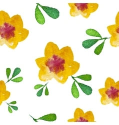 Watercolor flower Seamless Background vector image vector image