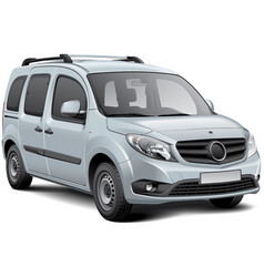 white multi-purpose vehicle vector image