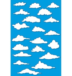 Fabulous clouds set vector image