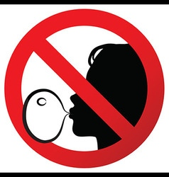 No chewing gum prohibited symbol sign on paper vector image