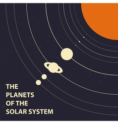 Poster of the planets of the solar system - vector image
