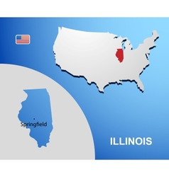 Illinois vector image