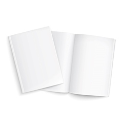 Couple of blank magazines template vector