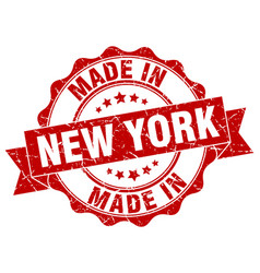 Made in new york round seal vector
