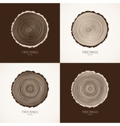 Tree rings conceptual background vector