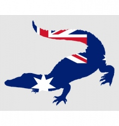 Crocodile australia vector