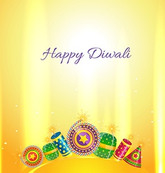 Diwali crackers card vector