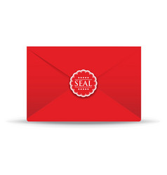 Seal red closed envelope vector