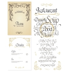 Set of vintage styled restaurant menu vector