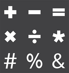 Mathematical symbols vector