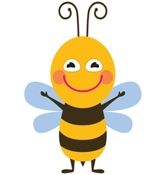 Funny bee vector