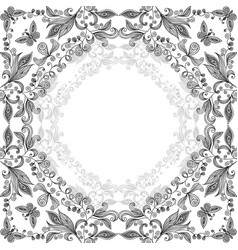 Abstract floral lacy background vector