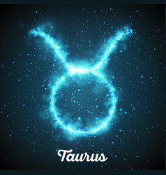 Abstract zodiac sign taurus on a vector