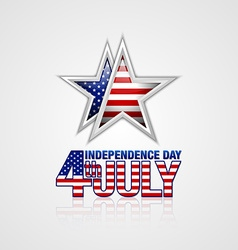 American Independence day star vector image