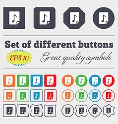 Audio MP3 file icon sign Big set of colorful vector image
