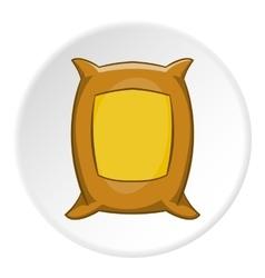 Bag of wheat icon cartoon style vector
