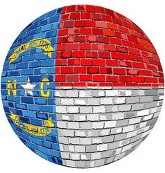 ball with north carolina flag vector image