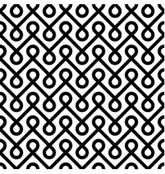 black and white linear weaved seamless pattern vector image