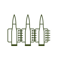Bullets clip line style ammunition sign icon vector