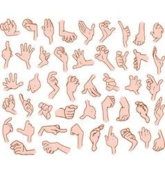Cartoon Hands Pack 3 vector image vector image
