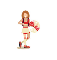 Cheerleader concept in flat vector