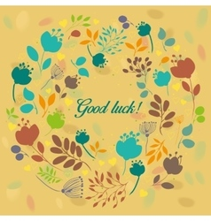 Colorful floral ring good luck vector